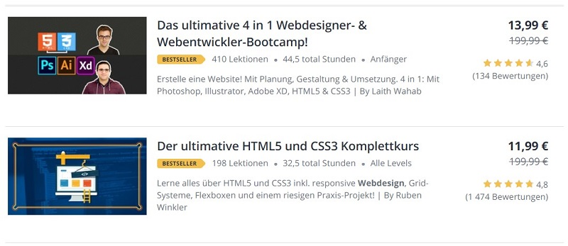 Webdesign Lernkurse