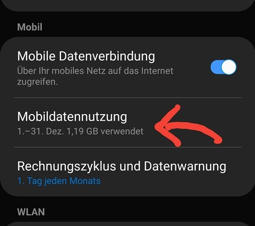 Mobiledatennutzung analysieren