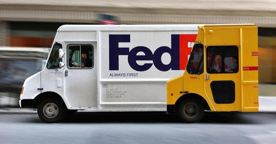Kreative Fedex LKW Werbung