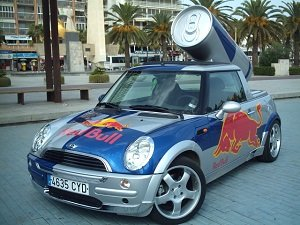 Red Bull Mini Autowerbung