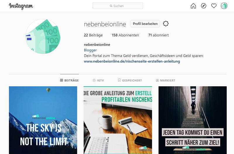 nebenbeionline Instagram