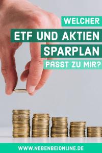 ETF und Aktien Sparplan